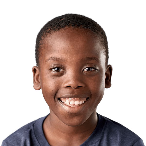Young boy smiling happy