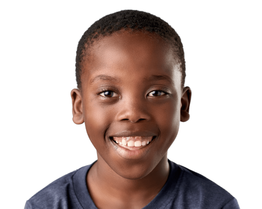 Smiling boy child black ICTeeth Pediatric Dentist