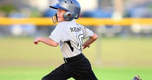Kid Sports Baseball Running
