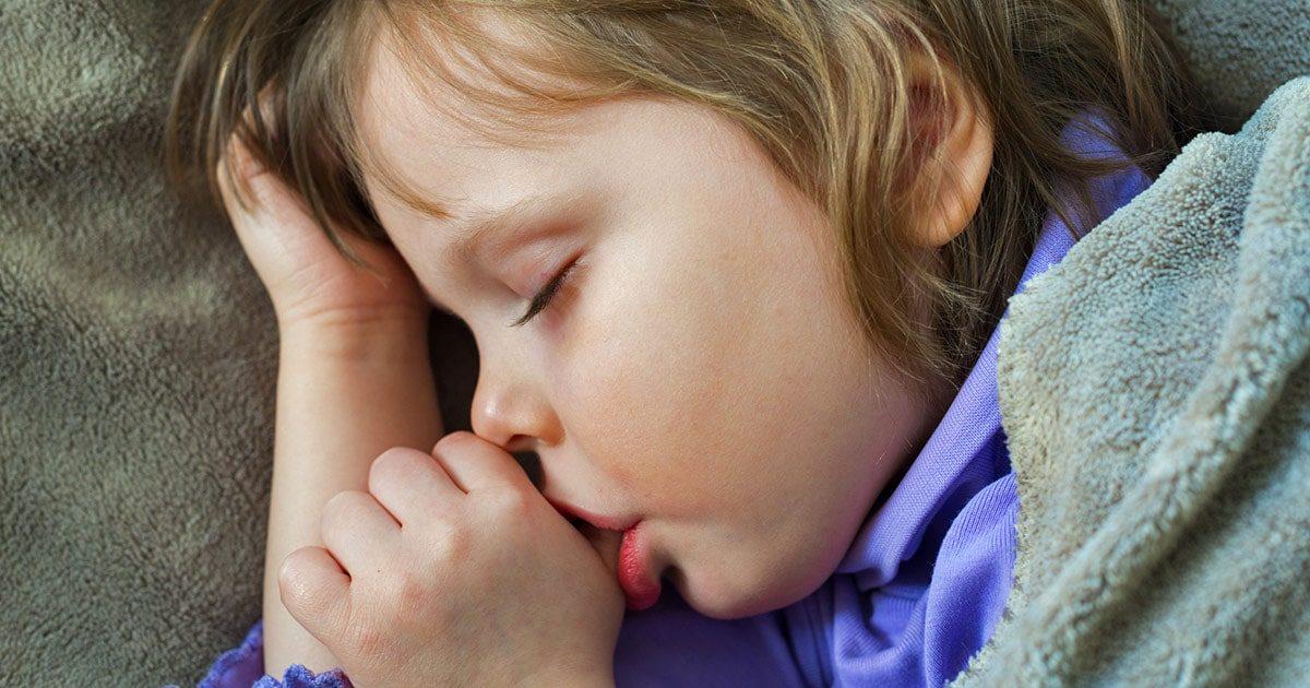 Toddler Sleeping Sucking Thumb